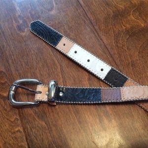 Elite M Leather Multi Color w/ Silver Buckle